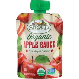 Sprouts organic Apple Sauce Pouch