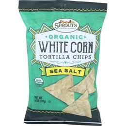 Sprouts Organic Sea Salt White Corn Tortilla Chips