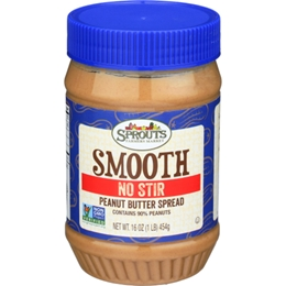 Sprouts Creamy No Stir Peanut Butter